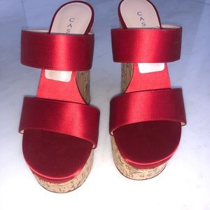 Casadei red platforms